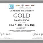 GM GOLD Supplier Status 2020